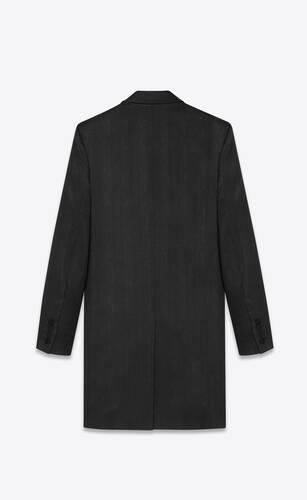 long western jacket in palm-stripe wool