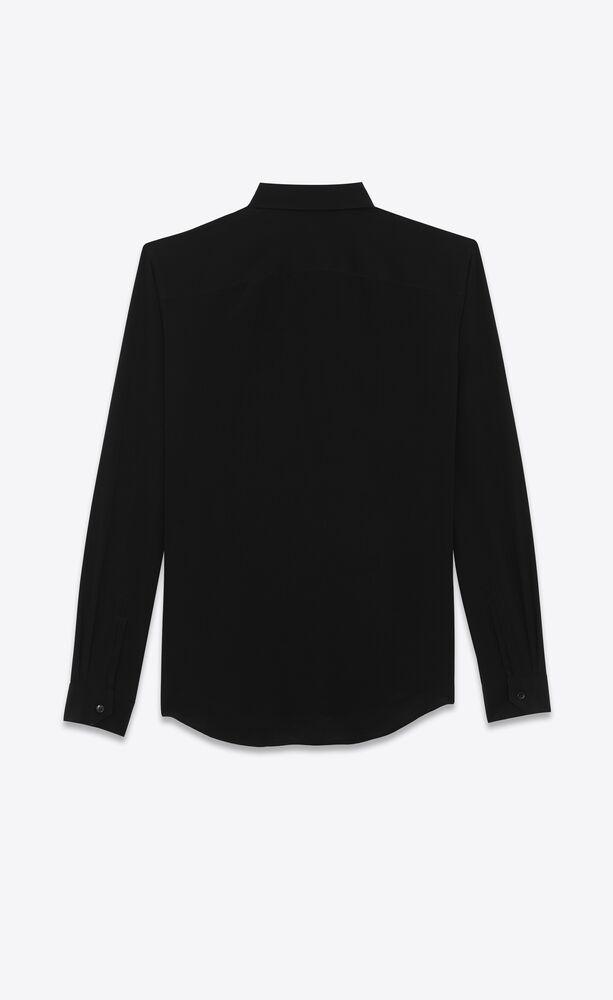 shirt in silk crêpe