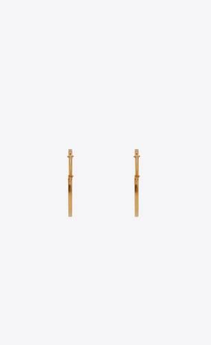 hammered hoop earrings in metal