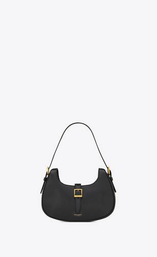 le fermoir hobo bag in shiny leather