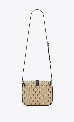 le monogramme small satchel in canvas and smooth leather