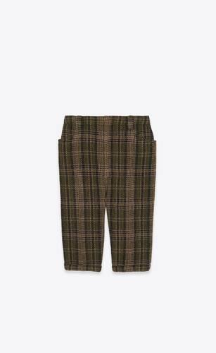 bermuda cycling shorts in checked tweed wool