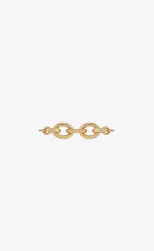 graduated chain bracelet in metal