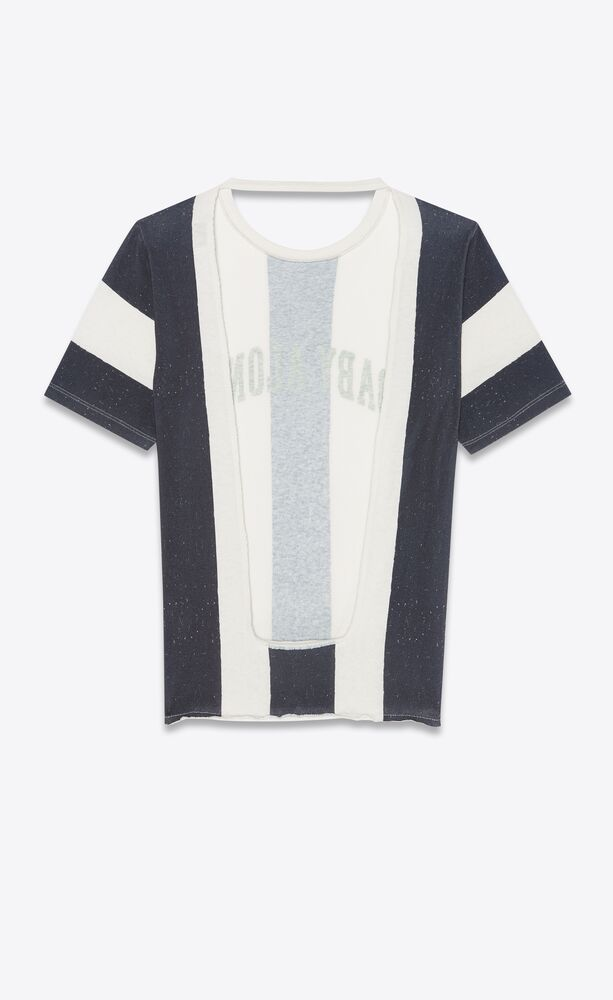 """striped """"baby alone"""" t-shirt"""