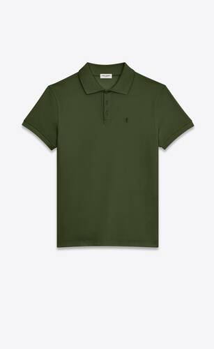 monogram polo shirt in cotton piqué