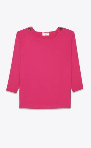 square-neck blouse in viscose sablé