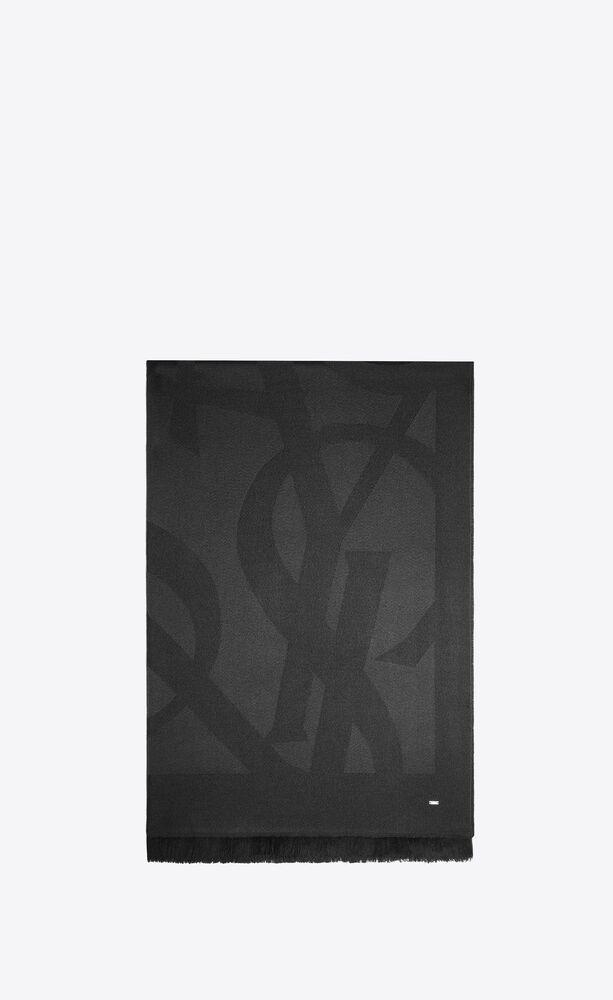 monogram schal aus wolljacquard