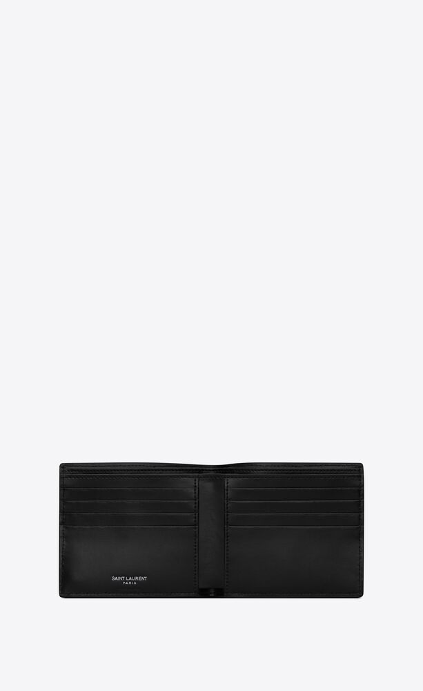 tiny monogram east/west wallet in matte leather