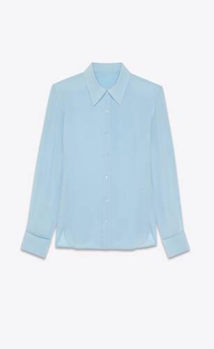 chemise cintrée en crêpe de chine