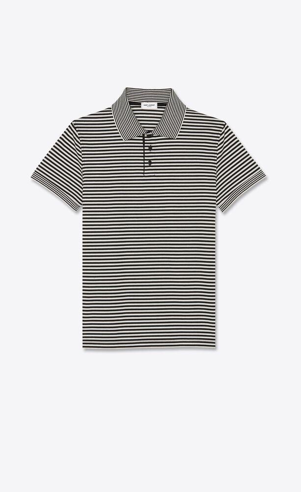 polo shirt in striped cotton piqué