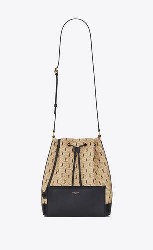 monogram bucket bag in canvas