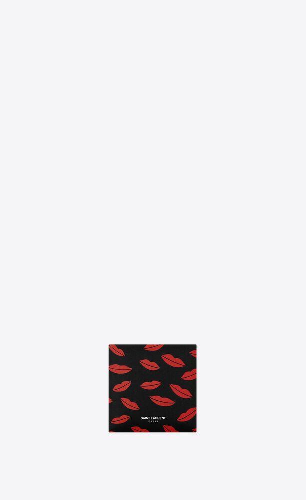 lips print fabric mask