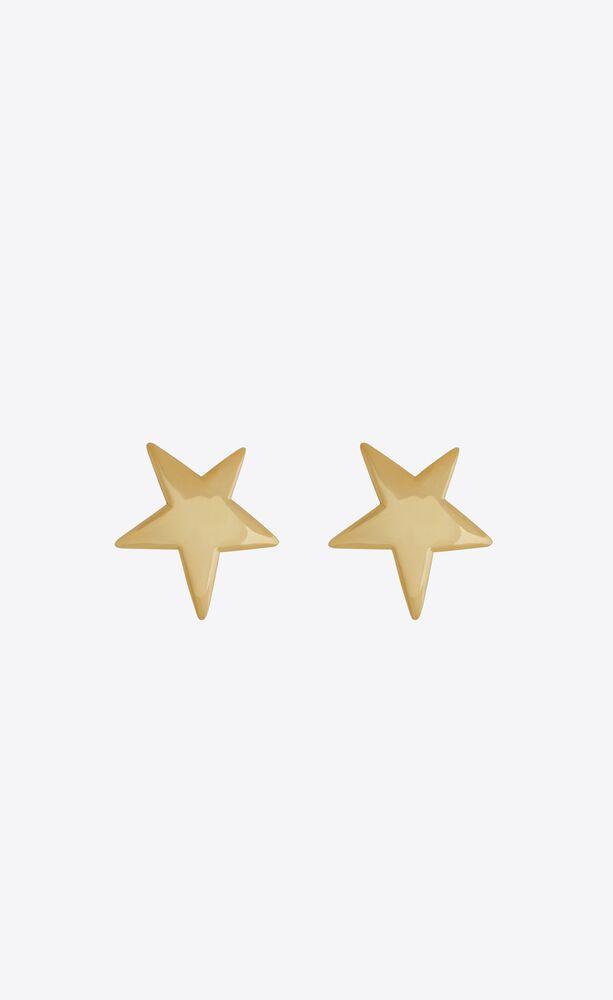star earrings in metal