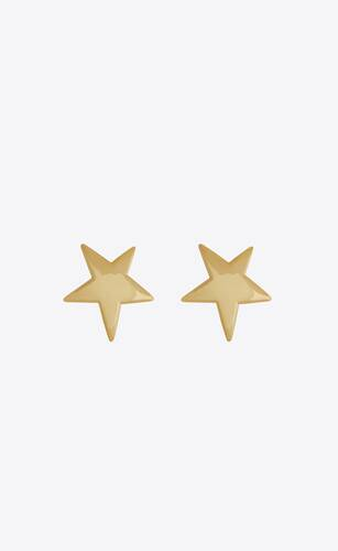 orecchini a stella in metallo