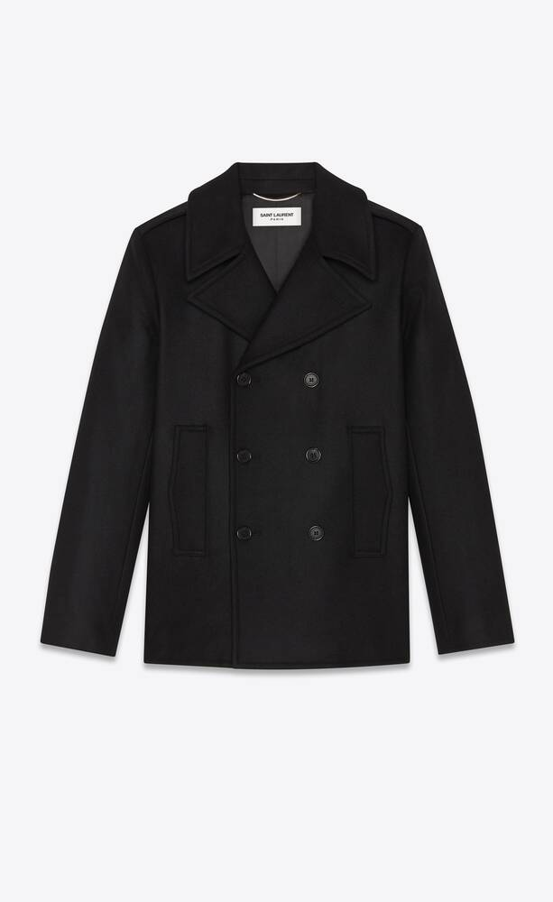 pea coat in wool felt