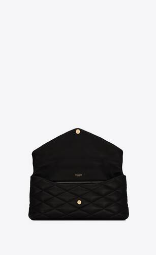 sade puffer envelope clutch in lambskin