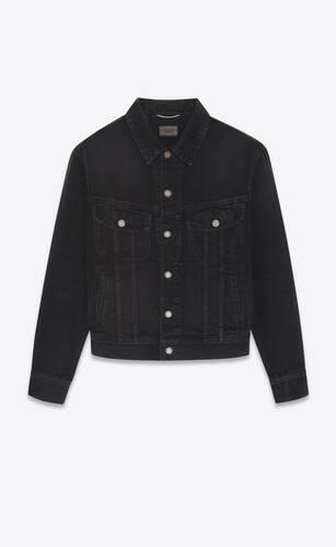 80's jacket in black ink wash denim