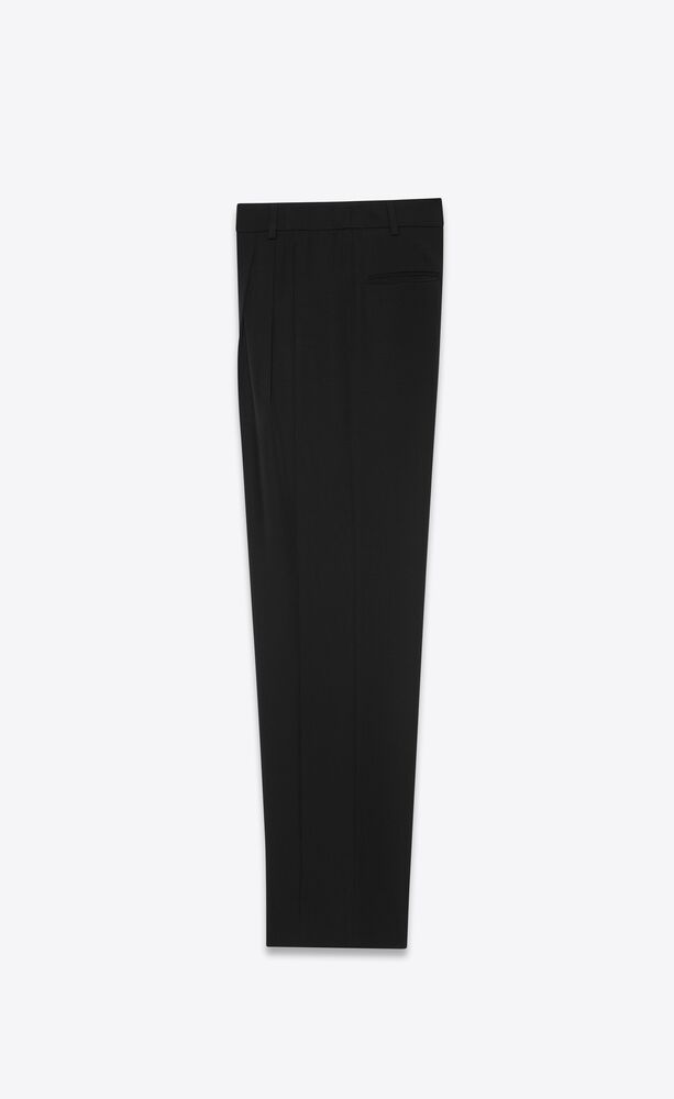 pleated pants in grain de poudre saint laurent