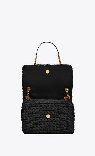 niki medium in raffia and leather