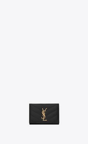 monogram porte-clés en cuir embossé grain de poudre