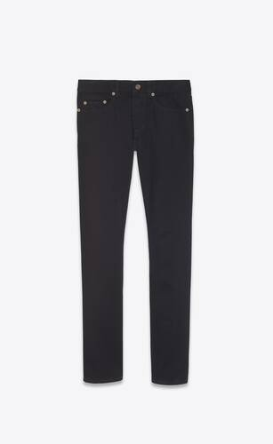 jean slim worn black