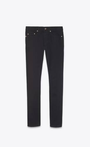 slim-fit jeans in worn black denim