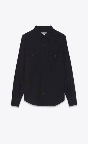 western shirt in black rinse denim