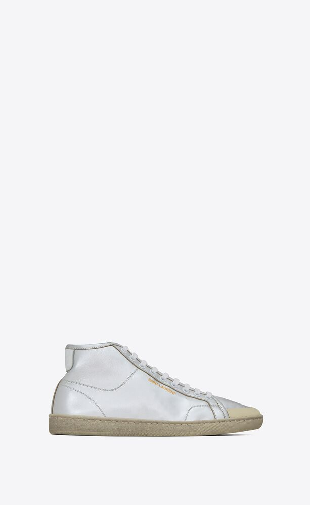court classic sl/39 mid-top sneakers in metallic leather