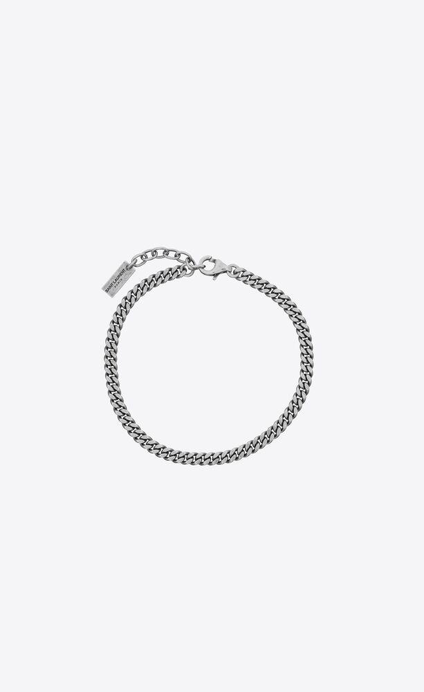 bracelet chaîne gourmette en métal