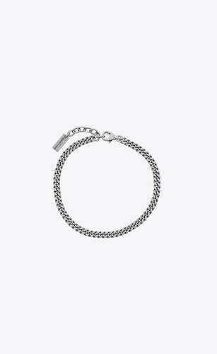 curb chain bracelet in metal