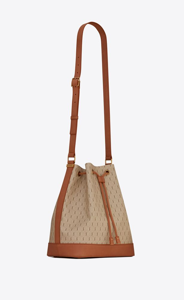 le monogramme bucket bag in canvas and leather