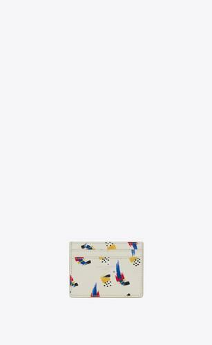 サンローランパリ クレジットカードケース(ブラッシュストロークプリントレザー)