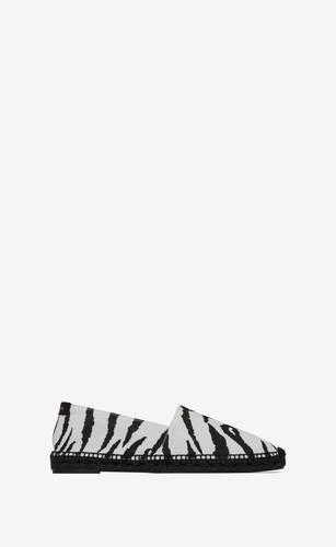 espadrillas in tela zebrata