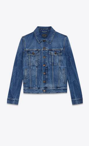 jacket in shadow deep dark blue denim