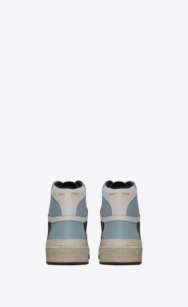 sneakers de media caña sl24 de piel y ante