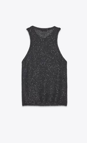 knitted sequin tank top