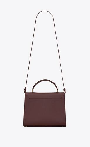 cassandra top handle medium bag in grain de poudre embossed leather