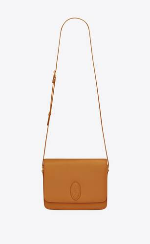 le 61 medium saddle bag in smooth leather