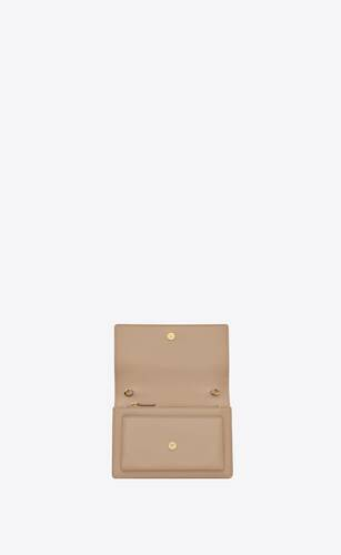 sunset chain wallet in smooth leather