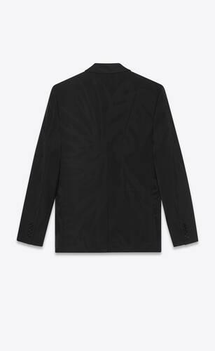 chaqueta de botonadura doble de jacquard con motivo de selva
