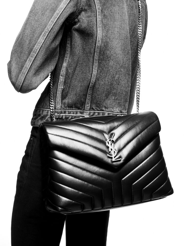 loulou medium in y-quilted leather