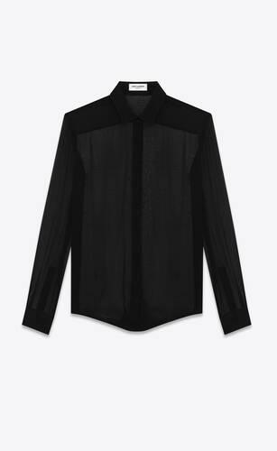 shirt in crepe chiffon