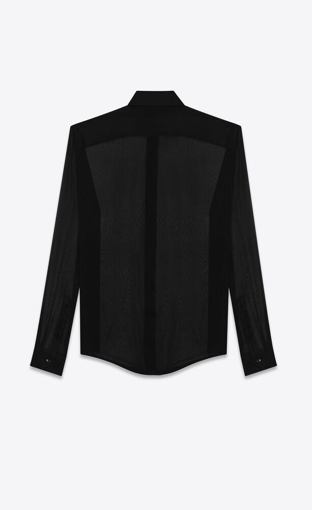 camisa de chifón de crepé