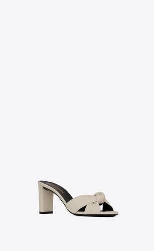 bianca mules in canvas
