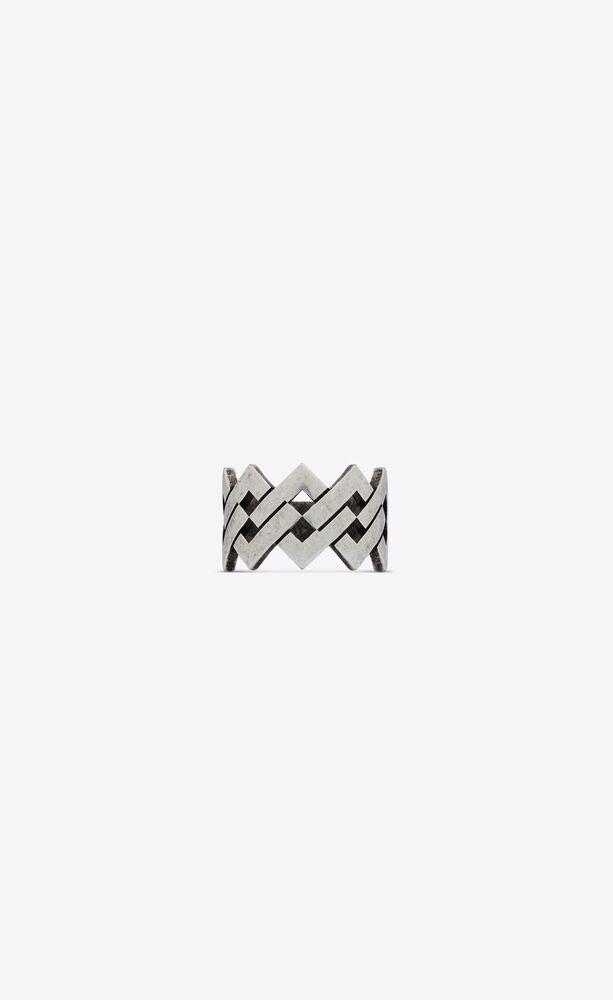 zigzag ring in metal