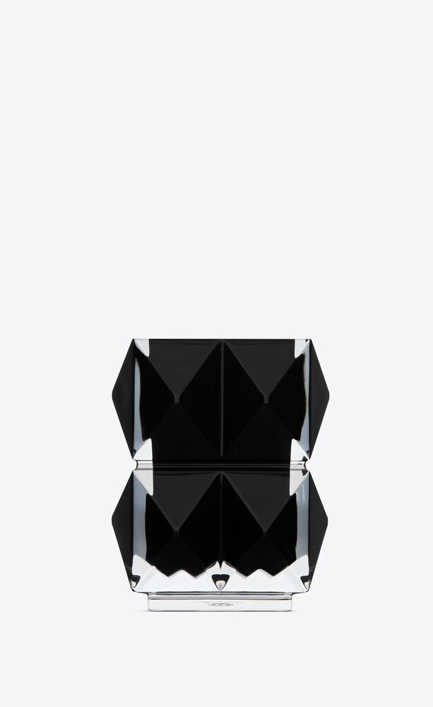 baccarat louxor pencil holder in black crystal
