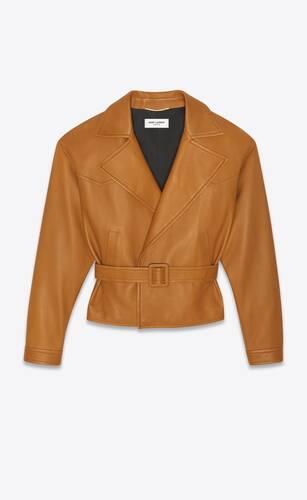 oversized biker jacket in waxed lambskin