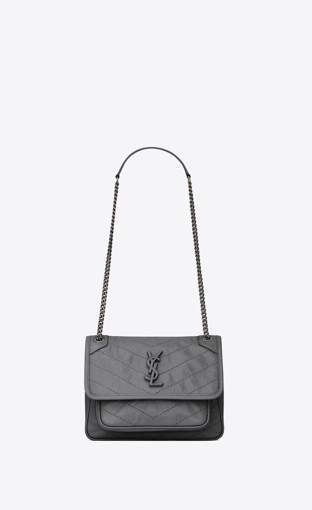baby niki tasche aus geknittertem vintage-leder
