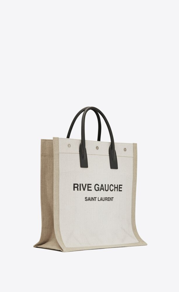 rive gauche n/s shopping bag in linen and cotton