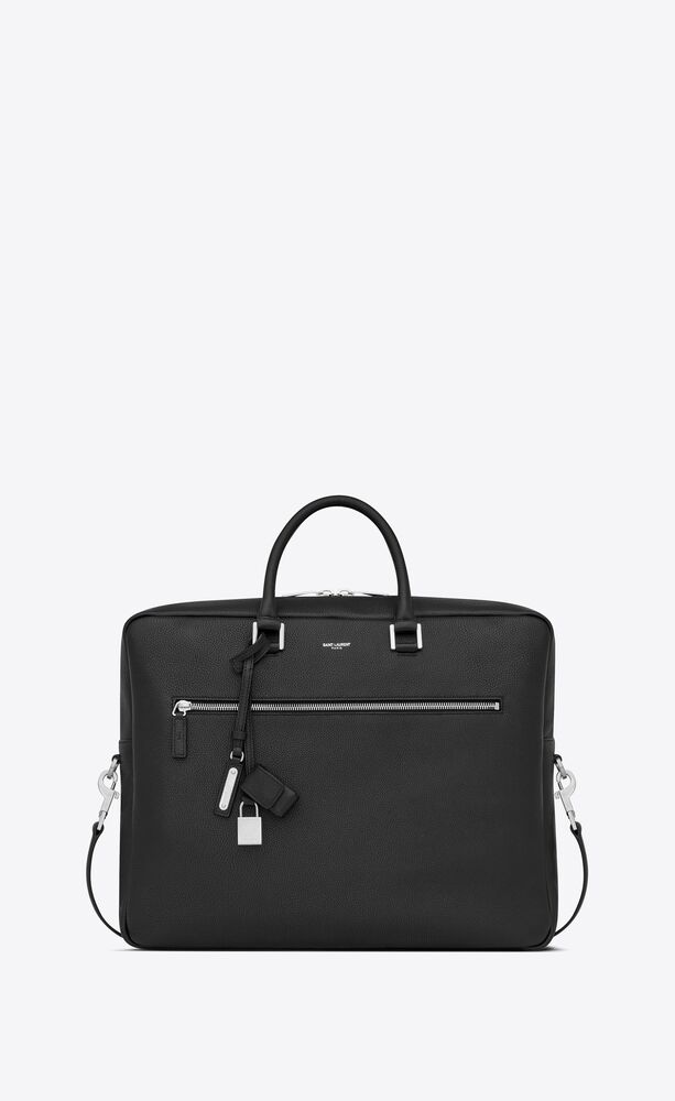 sac de jour large briefcase in grained leather